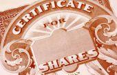 How to Track verloren voorraad certificaten