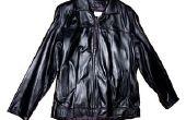 Hoe schoon zweet van een leren jas