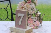 Vintage bruiloft op een begroting: DIY boek Displays