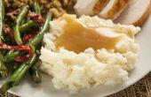 Hoe Maak aardappelpuree met kippenbouillon
