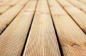 Wat Is de beste manier om te beschermen van een houten dek?