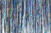Ouderwetse aluminium kerstboom ijspegels