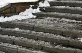 Hoe aan-ijs trap zonder gebruik te maken van zout