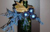 Hoe maak je een verlichte decoratie Display van een oude fles wijn