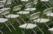 Hoe maak je bruiloft stoel Covers & draperen
