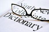 Hoe vindt u de Spelling van een woord in een woordenboek