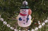 Hoe maak je een sneeuwpop Lightbulb Ornament