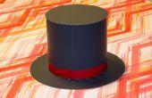 Hoe maak je de hoed van een goochelaar uit papier
