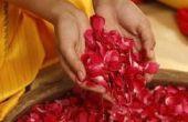 Kunstprojecten met Rose bloemblaadjes