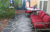Hoe te schilderen van Faux keien op een terras
