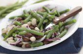 Hoe maak je drie-bonen salade