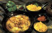 Indian-stijl kip bakken