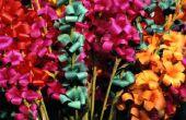 Bloemen Made uit papier snijden met schaar