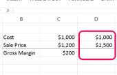 Hoe de berekening van de bruto winstmarge met Excel