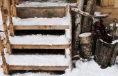 Hoe te voorkomen van ijs op houten trap