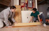 How to Install gelamineerde bevloering in krappe ruimtes