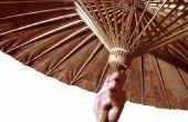 Instructies over hoe te maken van een Chinese paraplu