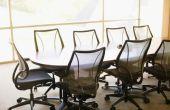 Het bepalen van de waarde van de gebruikte kantoorapparatuur en meubels