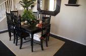 Hoe te schilderen van een houten tafel zwart