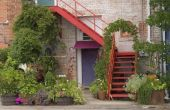 Kleuren die gaan met oude rode bakstenen voor een veranda