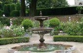 Hoe zet ik een standaard fontein in een zonne-fontein