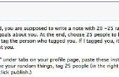 """Hoe te schrijven van uw Facebook """"25 random things about me"""""""
