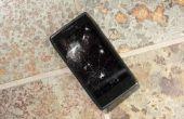 De gevaren van een gebarsten telefoon scherm