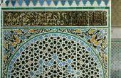 Eenvoudige DIY schilderij ideeën voor een Marokkaanse stijl Octagon tabel