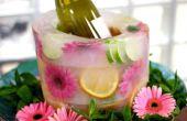 Hoe maak je je eigen bevroren Fruit en florale ijsemmer