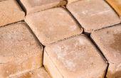 Wat soort zand wordt gebruikt voor baksteen patio's?