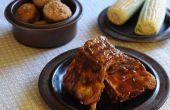 Hoe pekel varkensribbetjes voor een BBQ