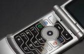 Over het werken met een mobiele telefoon van Motorola Razor