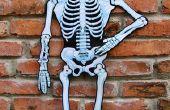 Zelfgemaakte Skelet Halloween kostuum voor kinderen