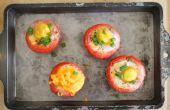 Hoe te bakken van de eieren in tomaten