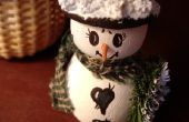 Instructies voor sok Snowman ambachten met rijst voor kinderen