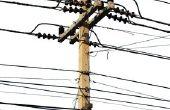 Wat zijn elk van de draden op Utility macht palen?
