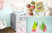 11 verrassend eenvoudig DIY manieren voor het decoreren van een kinderdagverblijf