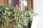 DIY vakantie Garland met verse Eucalyptus bladeren