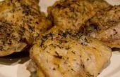 Hoe te bakken zonder been kip dijen