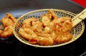 Hoe Fry garnalen met Italiaans broodkruimels