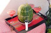 Hoe maak je een watermeloen Margarita Keg