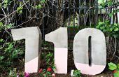 How to Make geschilderde huisnummers uit Cement Mix