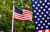 Hoe een Amerikaanse vlag verticaal hangen