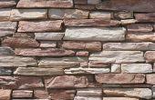 Gestapelde stenen muur ideeën