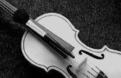 Het afstellen van een viool met een gitaar Tuner