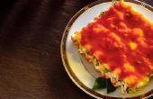 Hoe te bevriezen van plantaardige lasagne