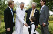 Welke kleur pak moet een dragen voor een bruiloft?
