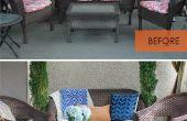 Hoe te herstellen van de Patio kussens zonder naaien