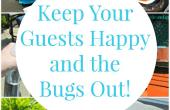 Achtertuin BBQ: 5 manieren om uw gasten tevreden en de Bugs uit