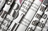 Het gebruik van kranten als achtergrond